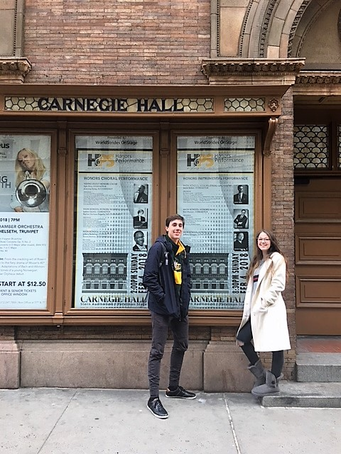 Tri-M Students Perform at Carnegie Hall